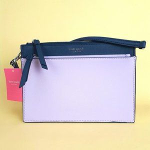 NWT Kate Spade Zip Crossbody Bag Purple Lilac Blue